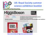 uk royal society summer science exhibition booklet