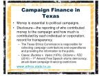 campaign finance in texas1