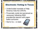 electronic voting in texas
