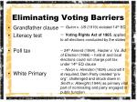 eliminating voting barriers