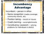 incumbency advantage