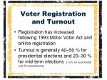 voter registration and turnout