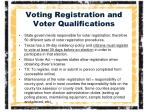 voting registration and voter qualifications