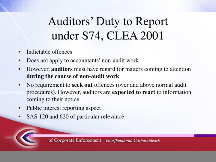 roles and duties of auditors