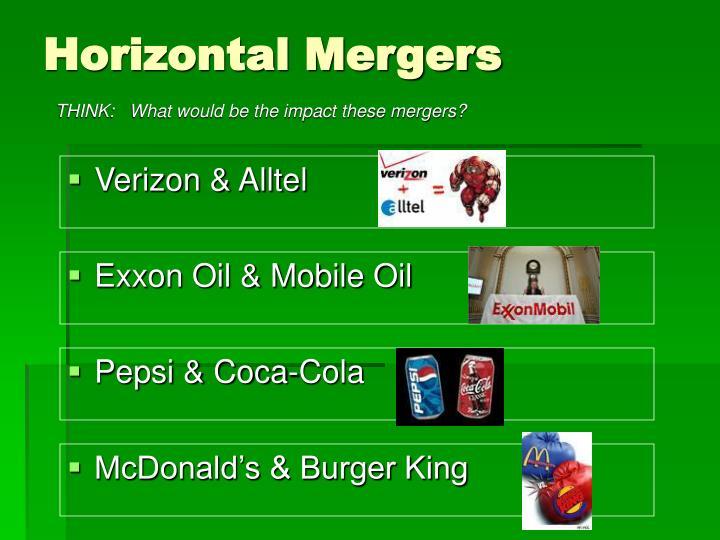 Horizontal Mergers