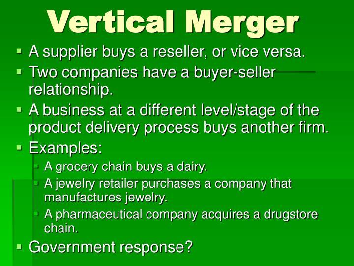 Vertical Merger