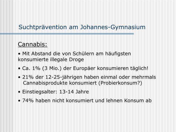Suchtprävention am Johannes-Gymnasium