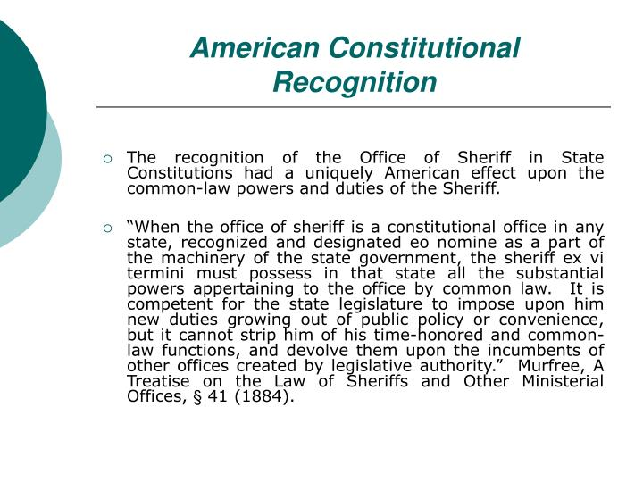 American Constitutional Recognition