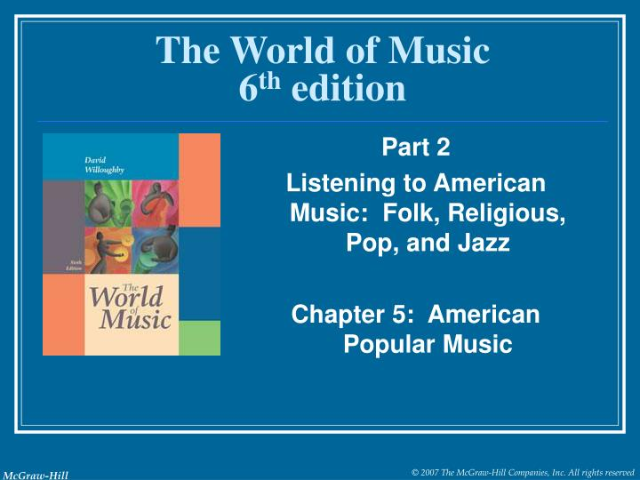the world of music 6 th edition n.