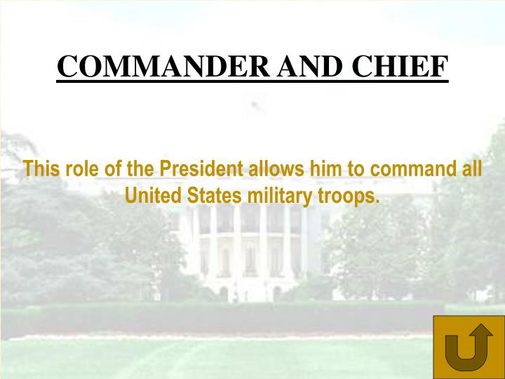 COMMANDER AND CHIEF