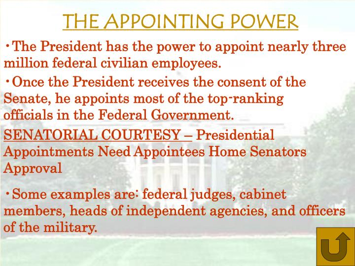 THE APPOINTING POWER