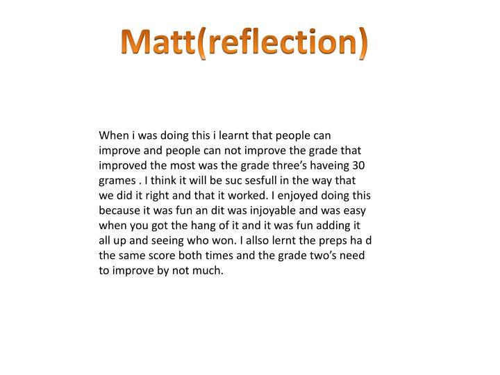 Matt(reflection)