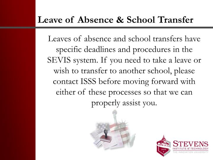Leave of Absence & School Transfer