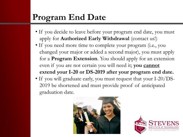 Program End Date
