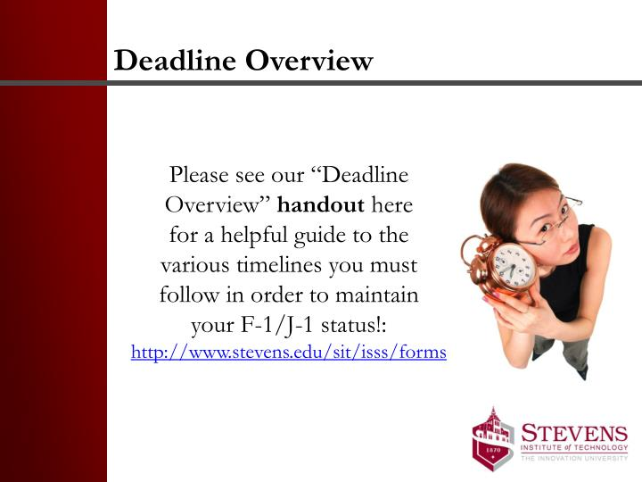 Deadline Overview