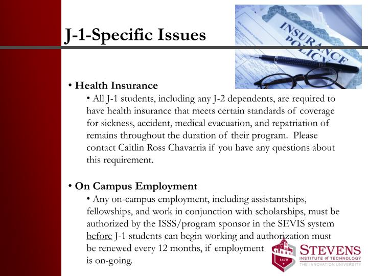J-1-Specific Issues