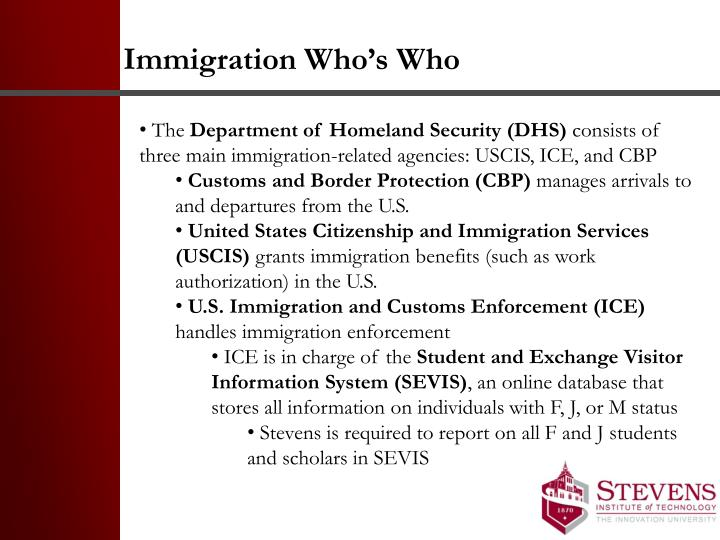Immigration Who's Who