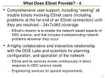 what does esnet provide 4