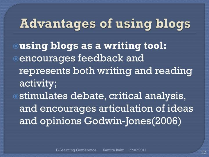 Advantages of using blogs
