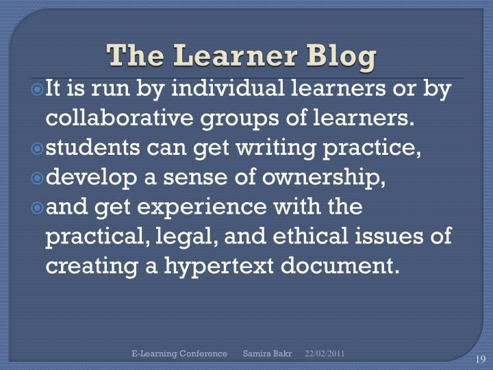 The Learner Blog