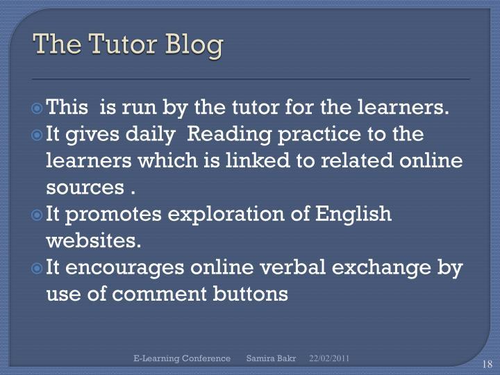 The Tutor Blog