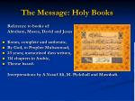 the message holy books