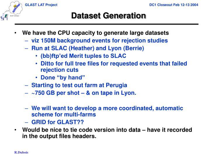 Dataset Generation