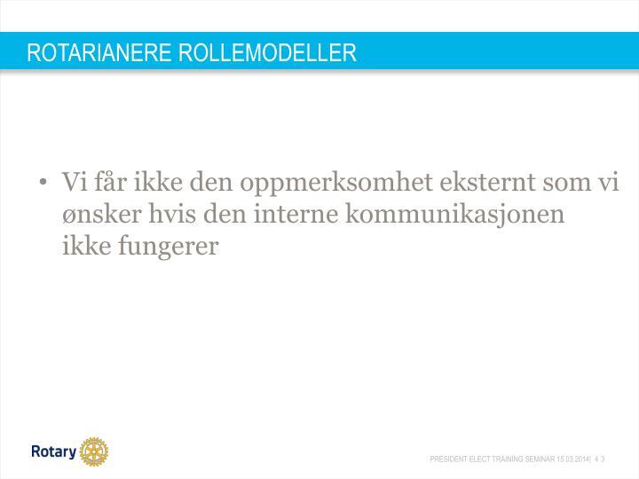 ROTARIANERE ROLLEMODELLER
