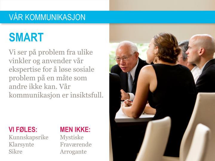 VÅR KOMMUNIKASJON