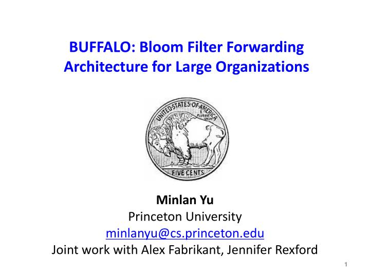 Buffalo bloom filter forwarding architecture for large organizations