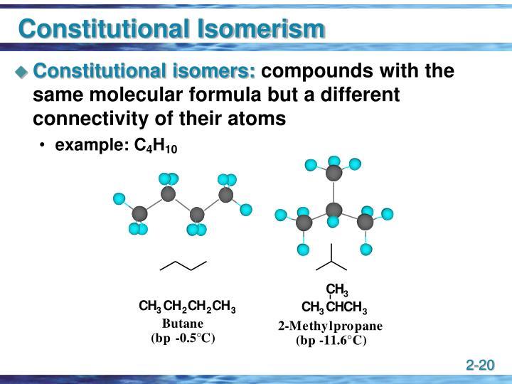 Constitutional Isomerism