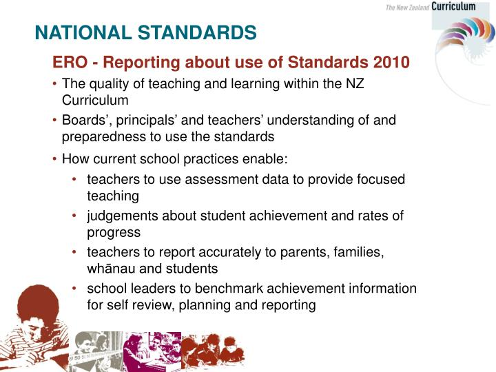 ERO - Reporting about use of Standards 2010