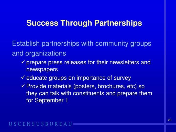 Success Through Partnerships