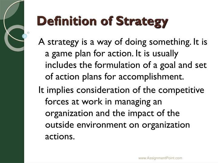 Definition of strategy