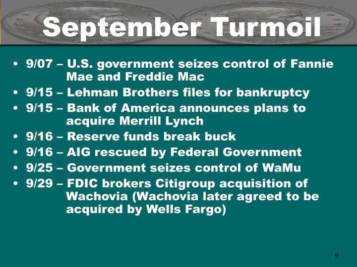 September Turmoil