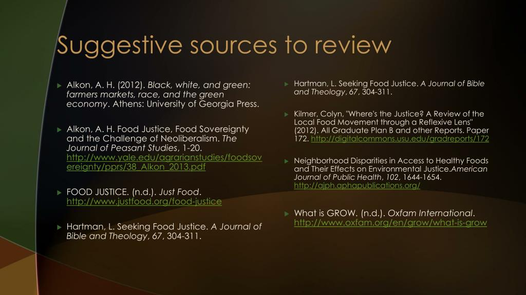 PPT - Food Justice PowerPoint Presentation - ID:5524424