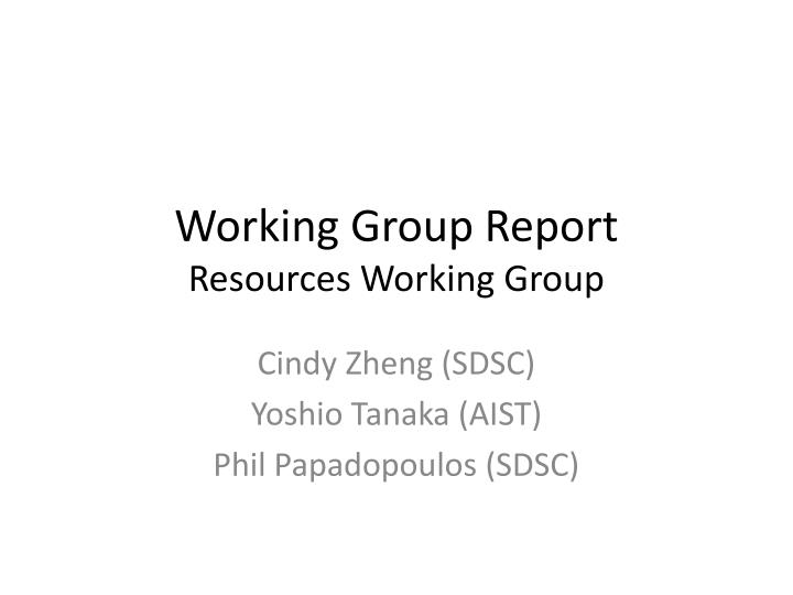 working group report resources working group n.