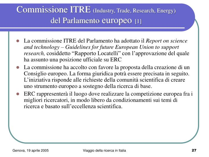 Commissione ITRE