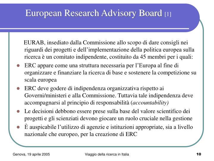 European Research Advisory Board