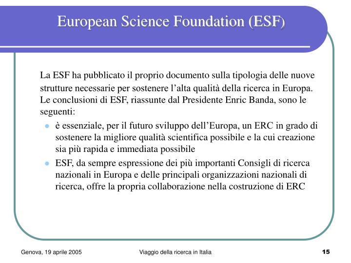 European Science Foundation (ESF
