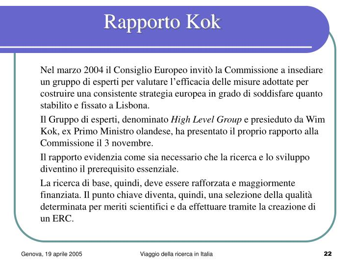 Rapporto Kok