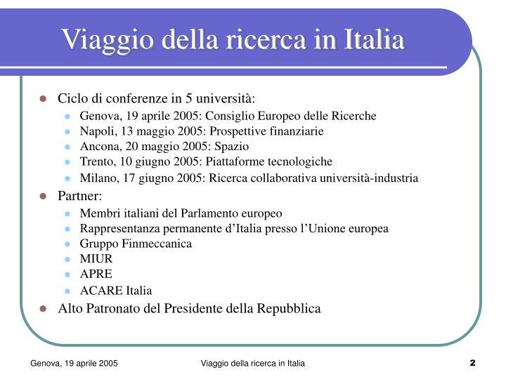 Viaggio della ricerca in italia1