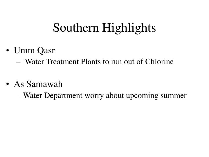 Southern Highlights