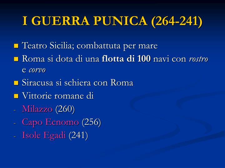 I GUERRA PUNICA (264-241)