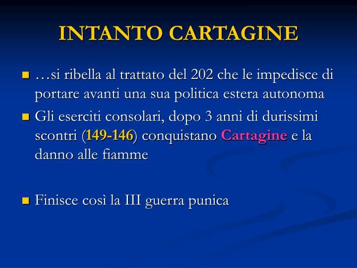 INTANTO CARTAGINE