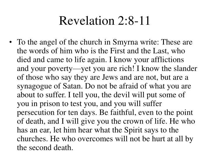 Revelation 2 8 11