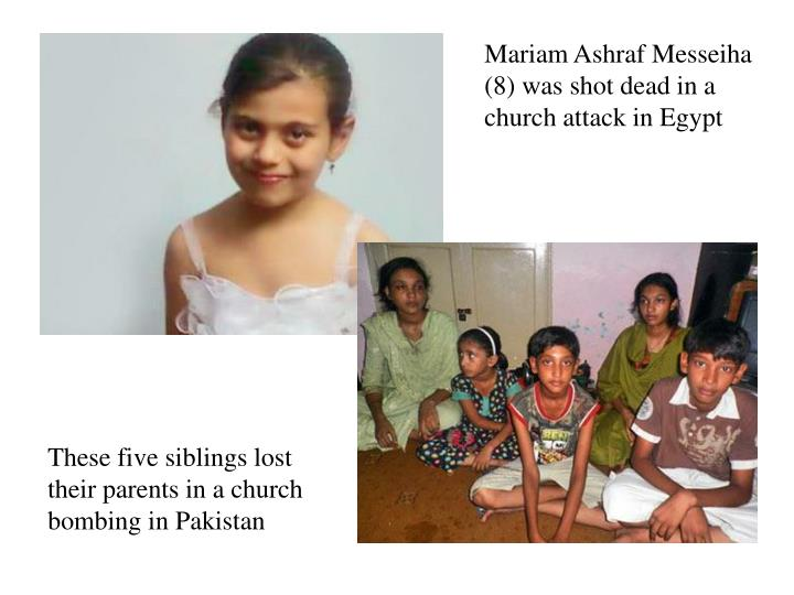 Mariam Ashraf Messeiha (8) was shot dead in a church attack in Egypt