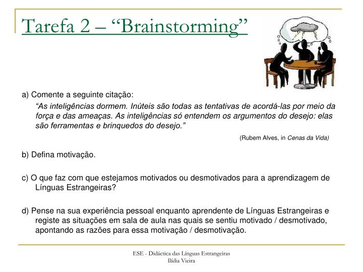 Tarefa 2 brainstorming