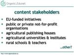 content stakeholders