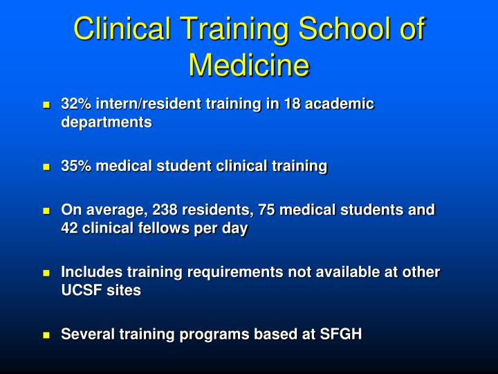 Clinical Training School of Medicine
